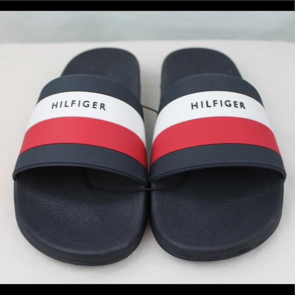 bc50b7a47f33c Tommy Hilfiger Mens Slides Big Box Logo. M 5a6ab9e072ea88137dd0d632